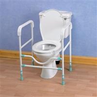Toilet frames for heavy duty use category