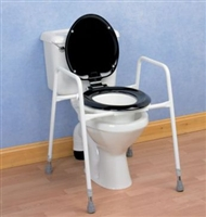 Toilet frames with seats