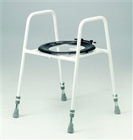 Toilet frame with standard seat category