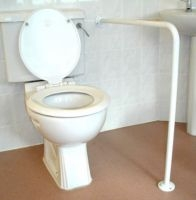 Wall to floor toilet rails