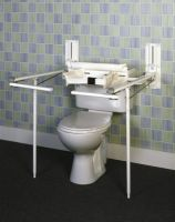 Adjustable toilet rails category