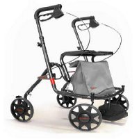 Rollators with four wheels and accessories category