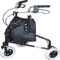 Wheeled triangular walkers