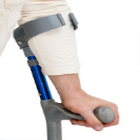 Crutches for heavy duty use category