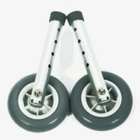 Walking equipment extension legs, wheels and tyres