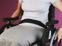 Wheelchair lap and waist straps or belts