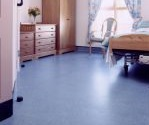 Replacement flooring for slip-resistance in dry areas