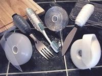Self-adhesive slip-resistant material