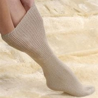 Extra wide, non-elasticated top, seamless and gel socks category