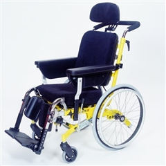 Manual wheelchairs with positioning supports
