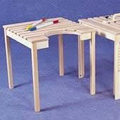 Static tables with tilting tops or cutouts category