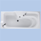 Baths with integral static seat