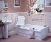 Baths with swivel seat