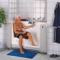 Combined bath and shower units category