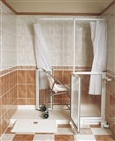 Ramped access shower trays category