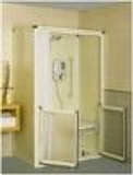 Level access corner shower cubicles category