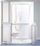 Stepped access shower cubicles category