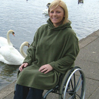 Clothing for wheelchair and scooter users category