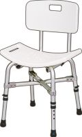 Static shower stools with backrest for heavy duty and bariatric use category