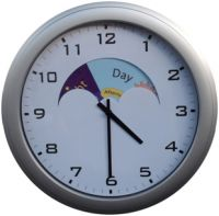 Clocks which prompt day or night