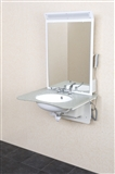 Adjustable height wash basins