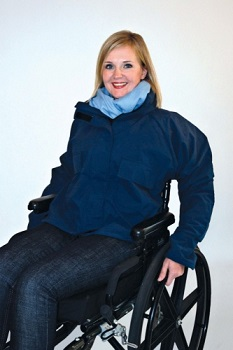 Outerwear for wheelchair and scooter users - jackets category