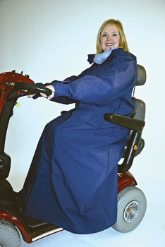 Outerwear for wheelchair and scooter users - coveralls