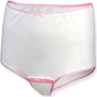 Womens side, crotch or back fastening panties