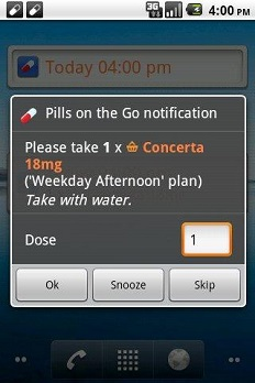 Medication reminder and organiser apps and software category