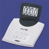 Bathroom scales with audible output or large displays