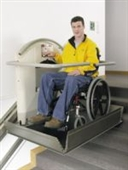 Stairlifts with wheelchair platform