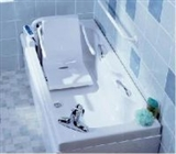 Baths with integral seat or equipment