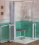 Ramped access showers category