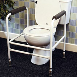 adjustable toilet frame