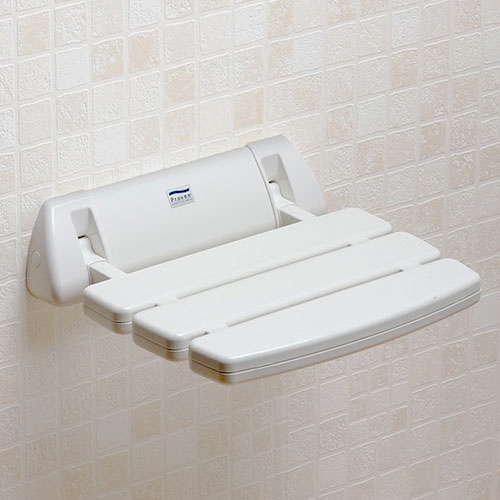 Folding Slatted Shower Seat