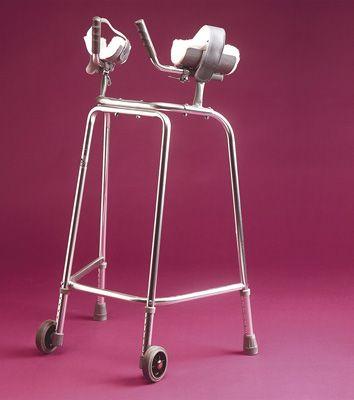 Standard Adjustable Trough Wheeled Walking Frame 1