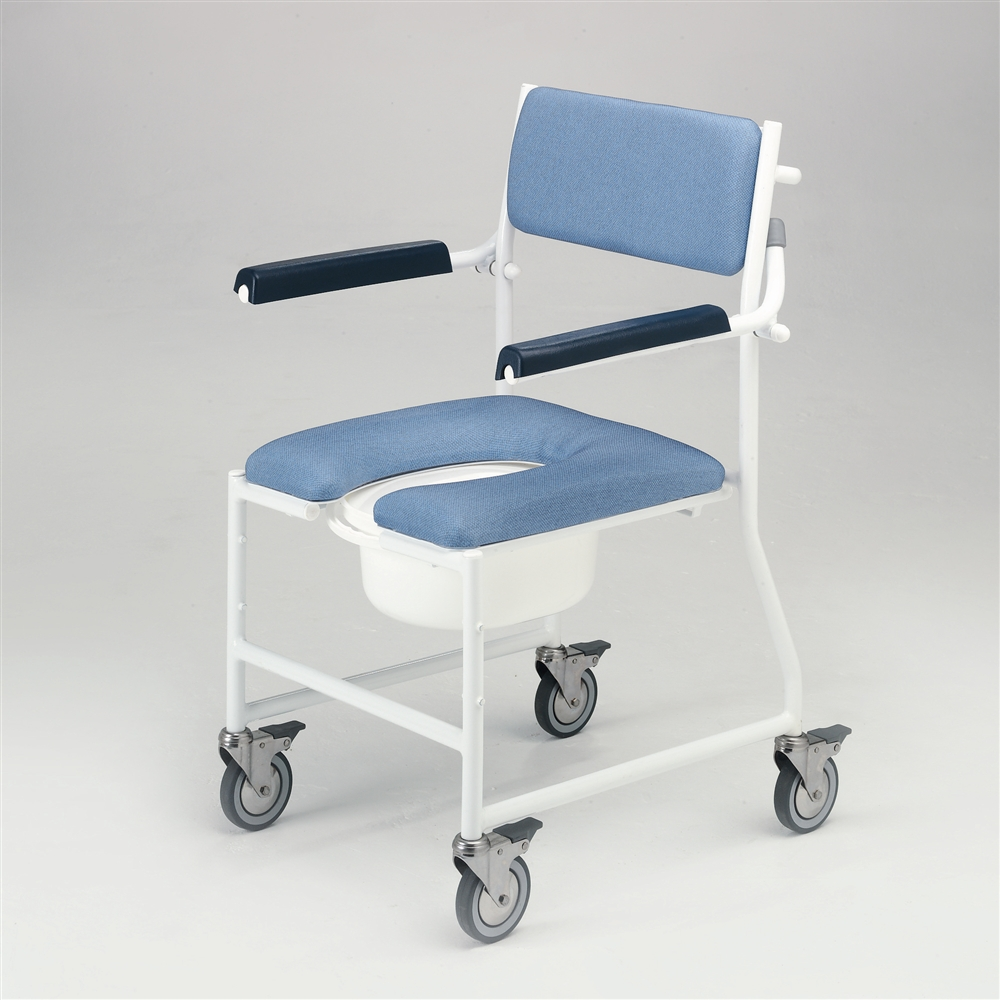 DLFu0027s summary. Mobile commode and shower chair. & Deluxe Mobile Dual Shower Chair Commode - Living made easy