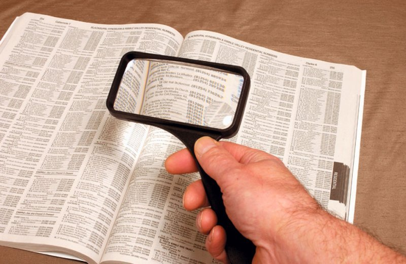 Rectangular Magnifying Reader