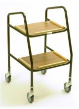 Adjustable Height Plastic Shelf Trolley 1