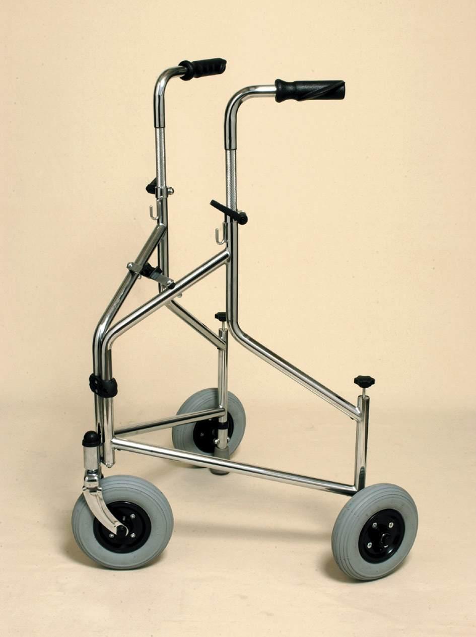 Folding Tri-wheeled Walker With Push Down Brakes