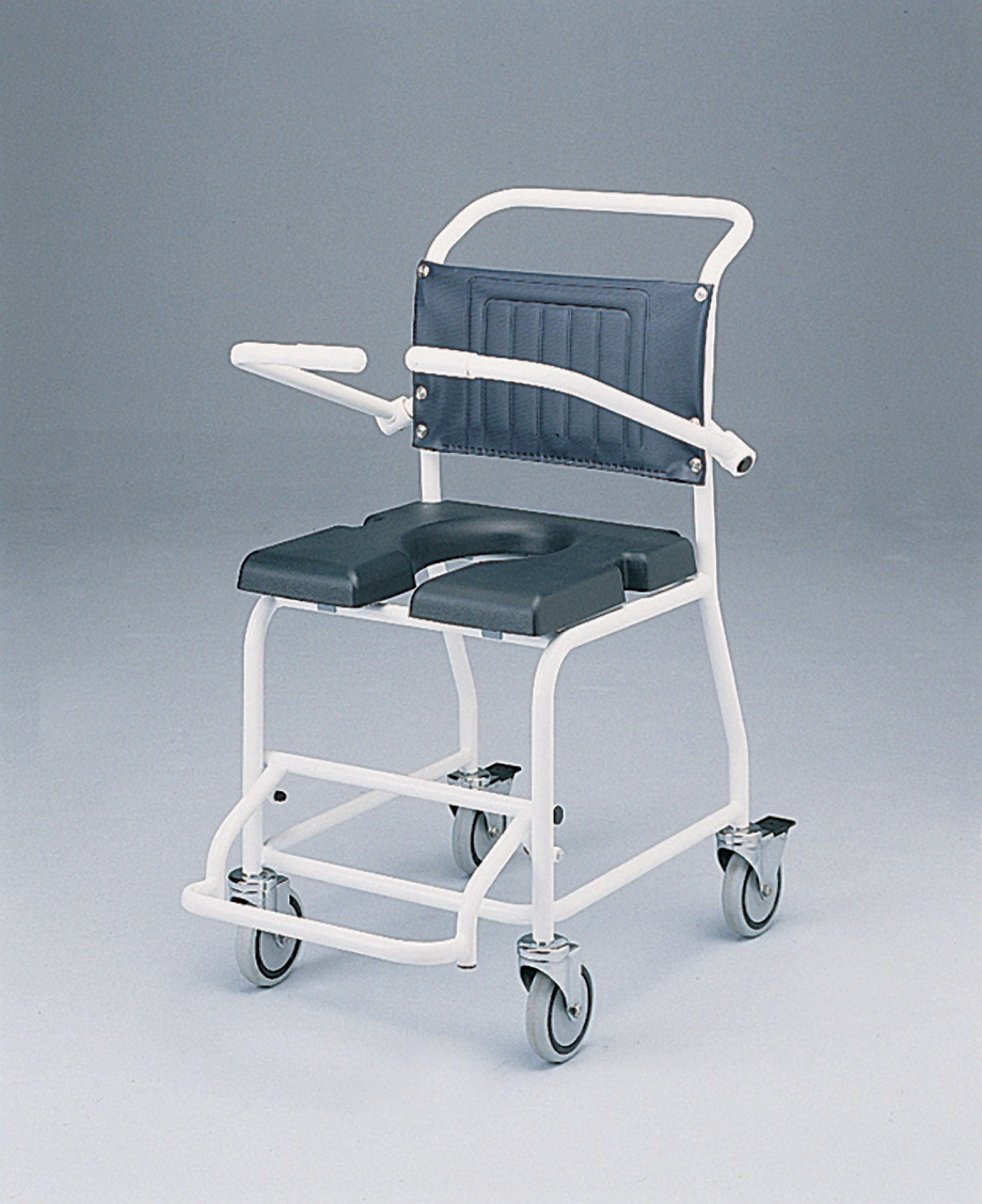 Gull Wing Attendant Commode And Shower Chair - Living made easy