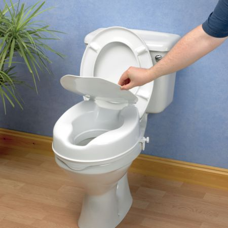 Savanah Raised Toilet Seat With Lid Living Made Easy