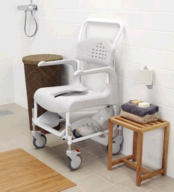 etac clean wheeled shower commode chair living made easy