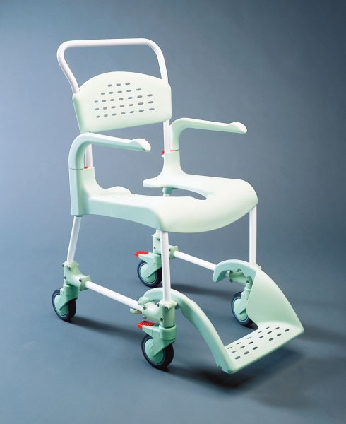 etac clean wheeled shower commode chair
