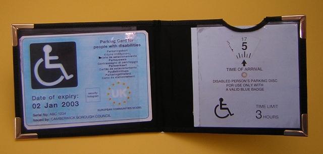 Blue Badge And Timer Wallet 2