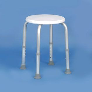 Adjustable Height Shower Stool With Circular Seat 2