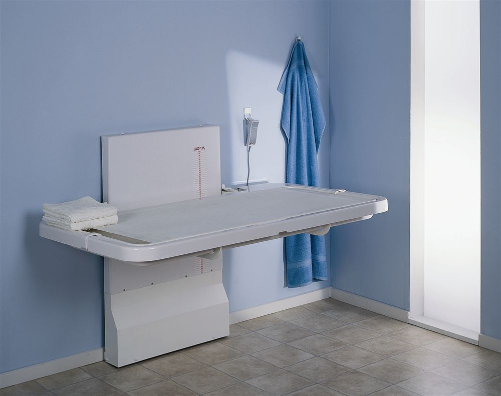 Vario Wall Mounted Nursing Table - Disabled changing table