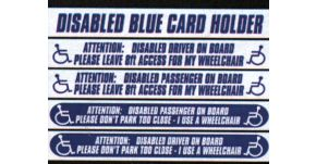 Car Window Stickers For Disabled Drivers And Passengers 1
