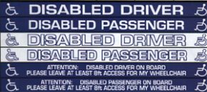 Car Window Stickers For Disabled Drivers And Passengers 2