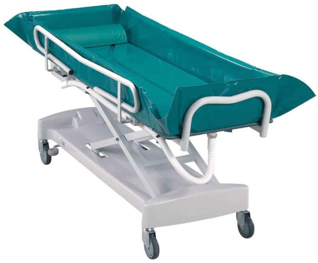 Harvest Healthcare Adjustable Hydraulic Bed Bath Trolley